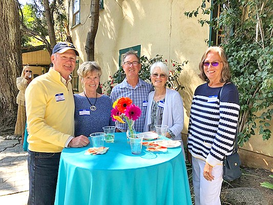 SDRVC board member Bob Sheppard, his wife, Janis D'Assalenaux, SDRVC Board President, Brad Bartlett, his wife Jane Meyers and guest Aida Wilson. Photo courtesy of the San Dieguito River Valley Conservancy