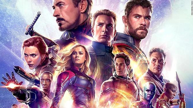 """Affiche pour """"Avengers: Endgame"""" de Disney."""