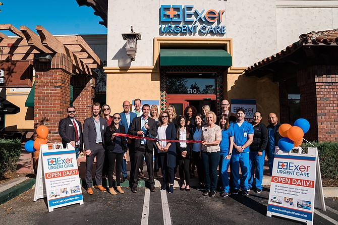 Ribbon cutting at Exer Urgent Care in Westlake Village.