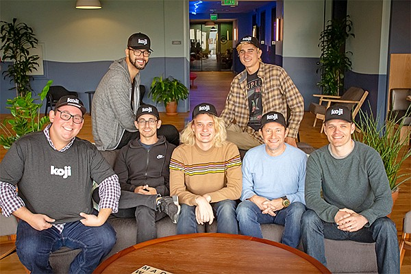 GoMeta, a San Diego software startup that just closed on $3 million in funding, is growing its team at WeWork's downtown offices. The company recently launched its app development platform, Koji. Photo courtesy of GoMeta
