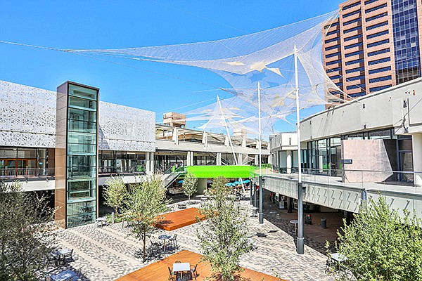 A San Diego company transformed a downtown Phoenix retail mall.  Photo courtesy of Parallel Capital Partners
