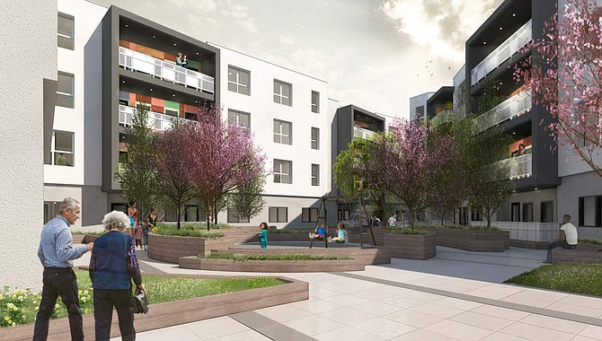 Rendering of proposed Sun Commons project in North Hollywood.