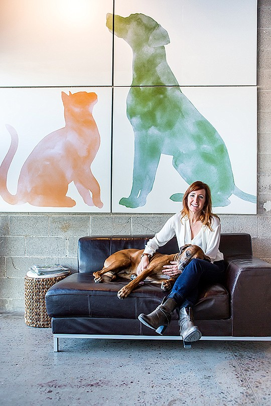 For Lucy Postins, founder and chief integrity officer of The Honest Kitchen, treating her Rhodesian ridgeback dog like a person also meant feeding him human-grade food. Photo courtesy of The Honest Kitchen