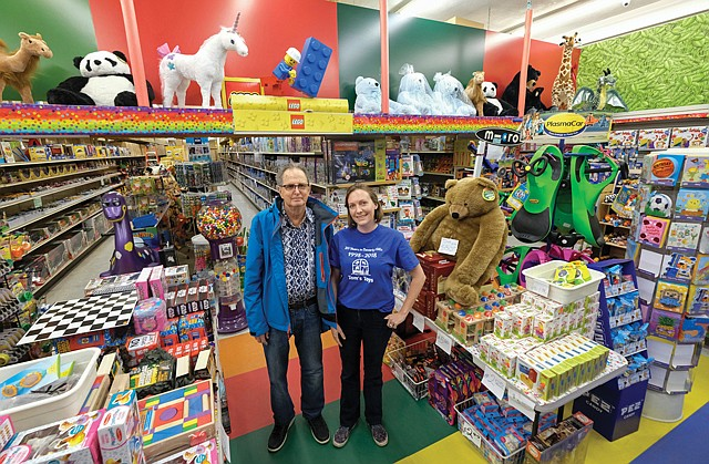 Fun and Games: Tom's Toys' Ted Frankel and Jill Wahlquist.