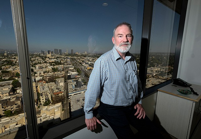 Positive Outlook: Nammi Chief Executive David Stover at the company's Sawtelle office.