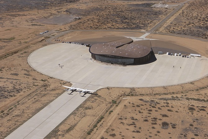 Spaceport America near Truth or Consequences, New Mexico.