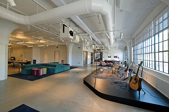 In Tune: Warner Music Group's new offices in the former Ford Factory in the Arts District.
