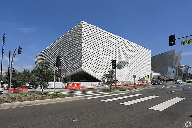 Over the Top: The Broad museum was built on land leased from the county.
