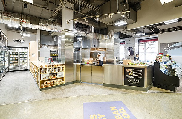 Petco in conjunction with JustFoodForDogs will open its first health and wellness kitchen for dogs at its flagship store in New York City. Photo courtesy of Petco