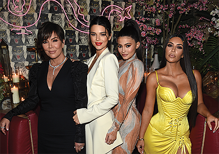 Kris Jenner, Kendall Jenner, Kylie Jenner and Kim Kardashian West.