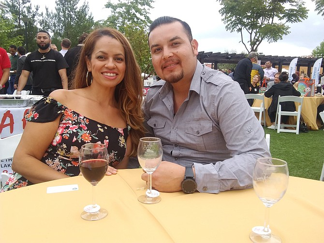 Moorpark couple Daniel and Maria Rodriguez at MIXPO in Thousand Oaks.