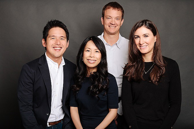 The Fika Ventures team from left to right: General Partner TX Zhou, General Partner Eva Ho, Principal Matt Hersh and Principal Andrea Funsten.