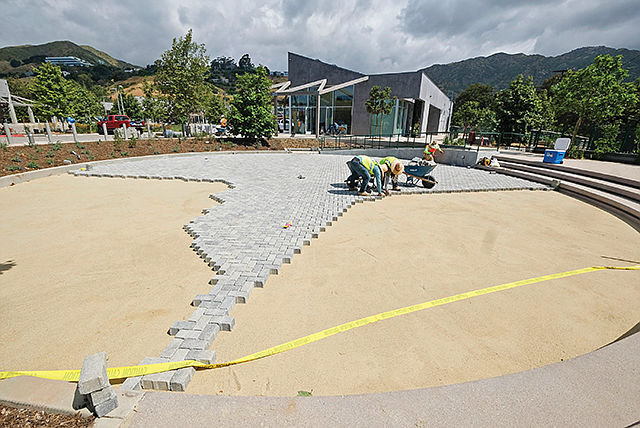 Laying it on Line: The Park at Cross Creek developers shelled out $1 million for individual pavers.