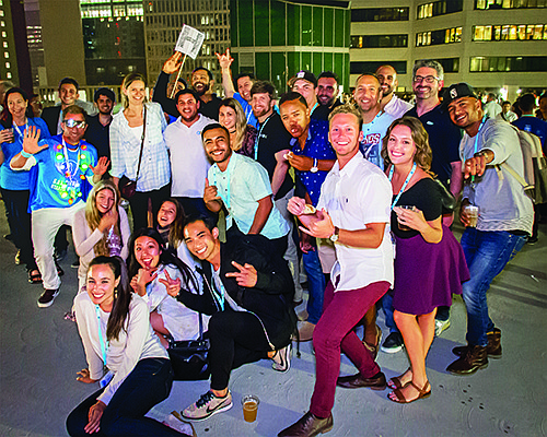 San Diego Startup Week attendees celebrate at Startup Crawl's after party in 2017. Photo courtesy of Moreno Production