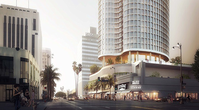 Rendering of 5407 Wilshire Blvd. (courtesy of Keating Architecture)