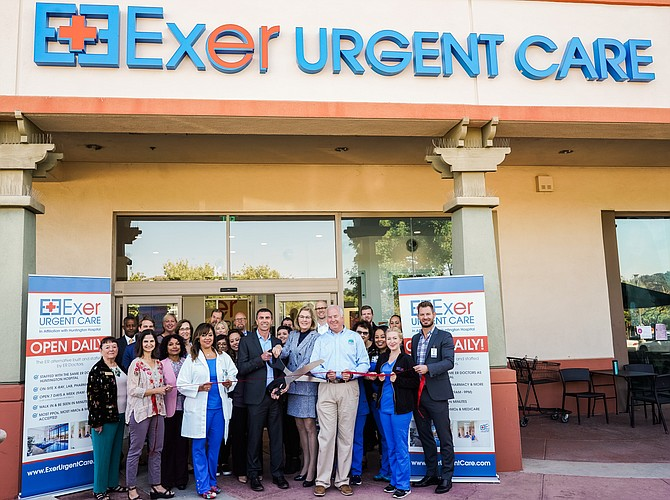 Exer Urgent Care ribbon cutting at 475 Foothill Blvd. in La Cañada-Flintridge.