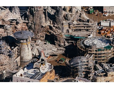 Star Wars: Galaxy's Edge under construction
