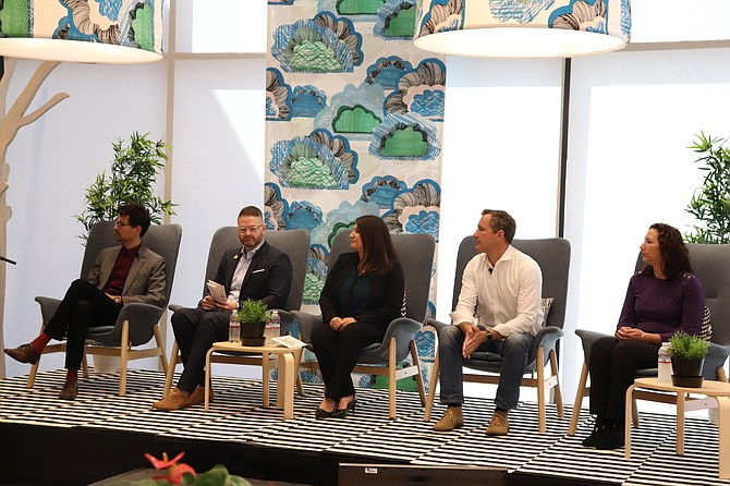 Panel discussion at Burbank Economic Summit.