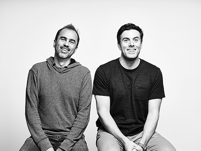 Projecting Success: Jeremy Gordon (left) and Trevor O'Brien co-founded Projector, which launched its  software last month.