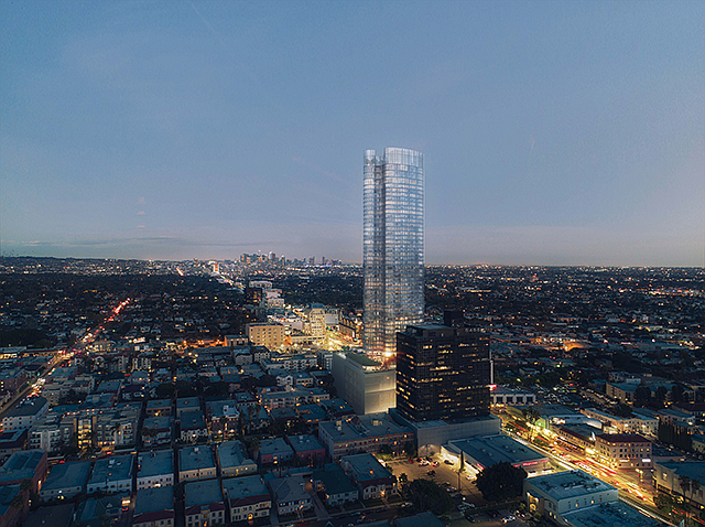 Miracle Mile High: Wilshire tower features 371 apartments.