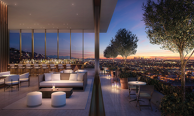 Rooms with a View: The West Hollywood Edition hotel will also include 20 condo units.