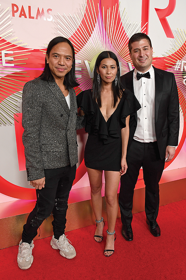 Instagram Ready: (From left) Michael Mente, Revolve co-founder and co-CEO; Raissa Gerona, chief brand officer; and Mike Karanikolas, co-founder and co-CEO.