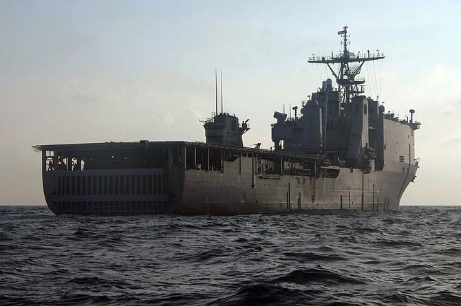 The USS Carter Hall is an amphibious dock landing ship. Photo courtesy of U.S. Navy.