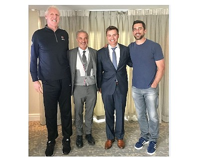 Bill Walton, Byron Roth, Nate Raabe, Aaron Rodgers