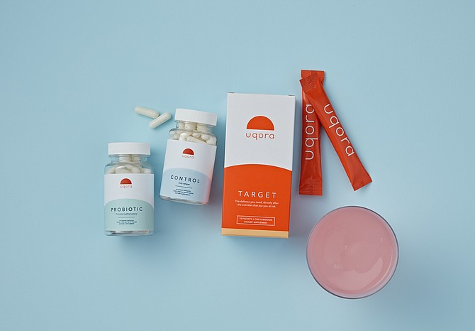 Uqora makes supplements that use D-mannose to prevent urinary tract infections. Photo courtesy of Uqora.