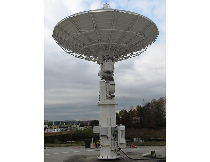 This 7.3-meter satellite dish is similar to the infrastructure Viasat plans to put in Australia. Photo courtesy of Viasat Inc.