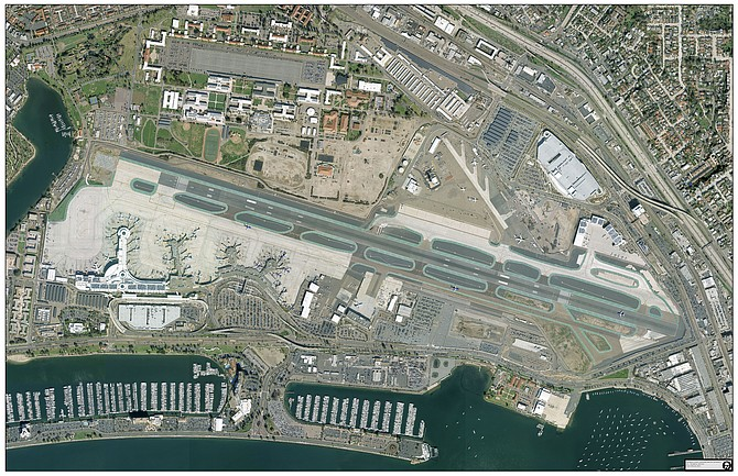 San Diego International Airport received close to $13 million in grant money from the FAA, of which $3.9 million will be used to repair taxiways. Photo courtesy of San Diego International Airport.
