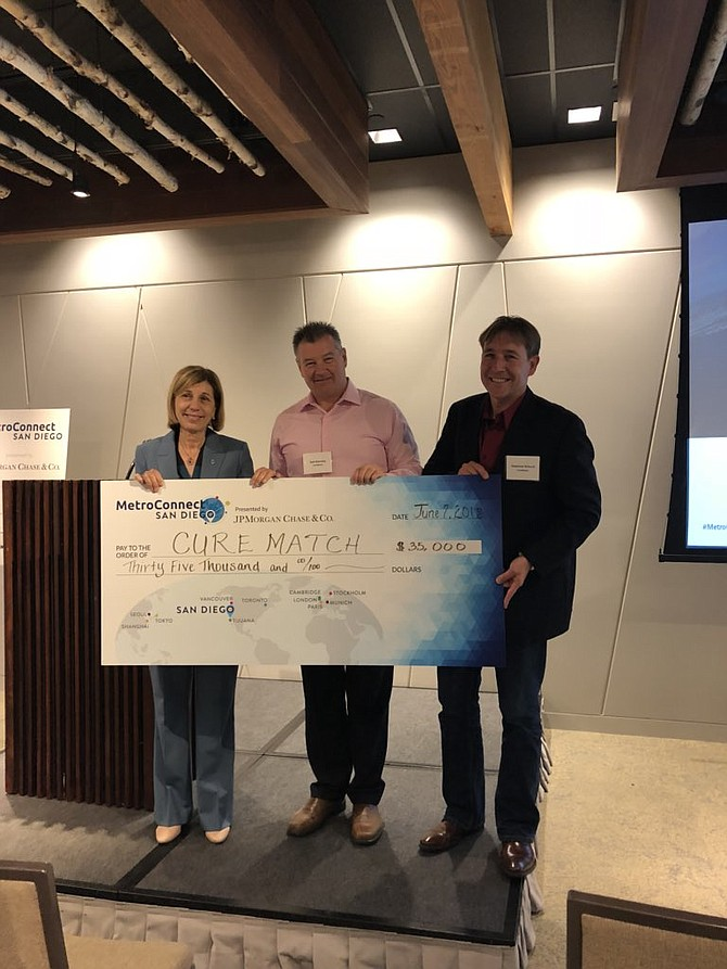 CureMatch was awarded $35,000 at last year's MetroConnect competition hosted by the World Trade Center of San Diego to help expand its business overseas. Photo courtesy of CureMatch.