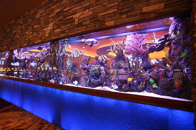 San Diego's Valley View Casino & Hotel has completed its 18-month-long $50 million expansion, which includes an indoor water wall. Photo courtesy of Valley View Casino & Hotel.
