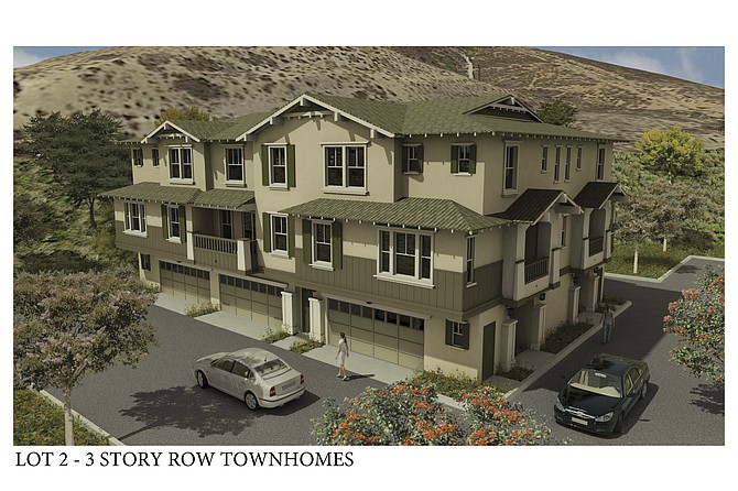 As proposed by developer Doug Wilson, a Spring Valley housing project would consist of 218 townhomes. Rendering courtesy of Douglas Wilson Cos.
