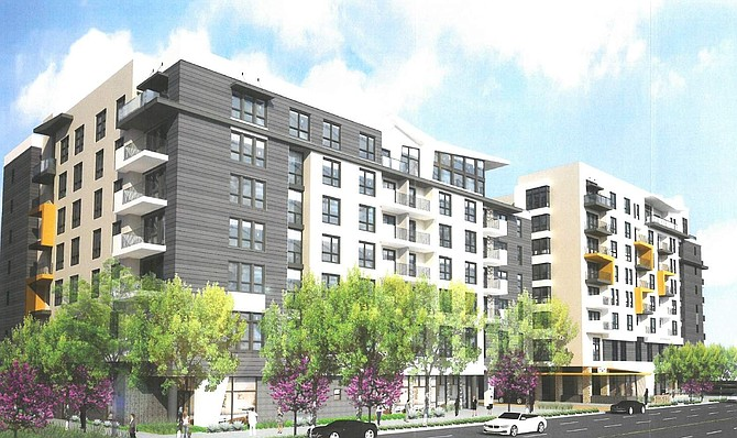 Rendering of senior living project at 6223 Variel Ave. in Woodland Hills