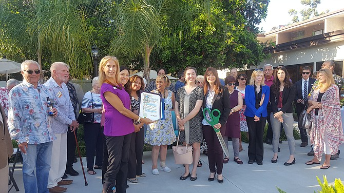 Ribbon cutting at Canyon Trails Senior Living and Memory Care in Canoga Park.