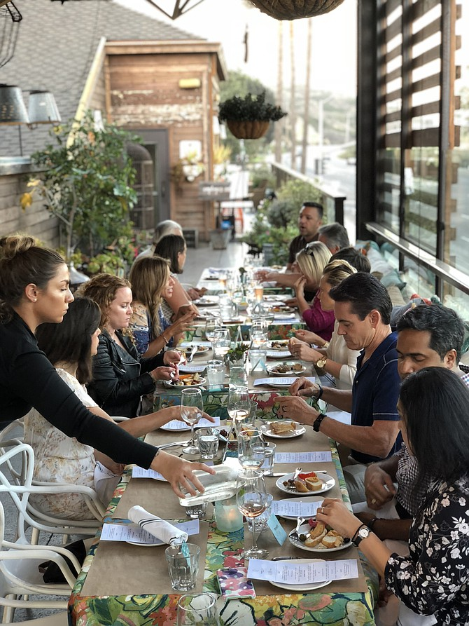 Anna Keeve partners with restaurants and chefs to create multi-course plant-based menus and then the chefs prepare and present the food for PBP guests. Photo courtesy of PlantBased PopUp.