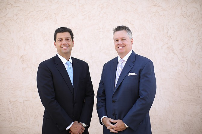 Patrick Mendes, left, and Robert Tyson started their law firm in 2002. Photo courtesy of Tyson & Mendes LLP.