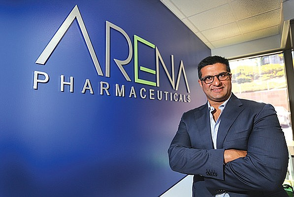 Larger photo: Arena Pharmaceuticals Amit Munshi orchestrated the company's comeback after exiting the weight-loss business. Inset photo: Neurocrine CEO Kevin Gorman took the reins in 2008. Since then, the company rebounded. Photos courtesy of Jamie Scott Lytle.