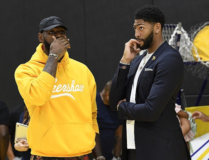 LeBron James and Anthony Davis.