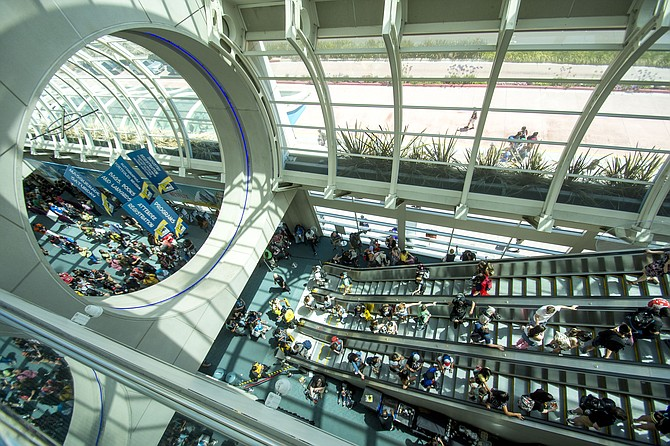 The San Diego Convention Center fills up for the 2019 Comi-Con International. Photo courtesy of San Diego Convention Center Corporation.