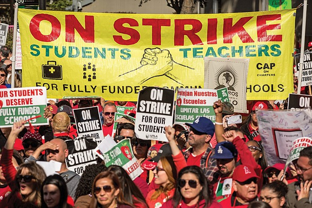 Collective Action: L.A. teachers went on strike earlier this year.