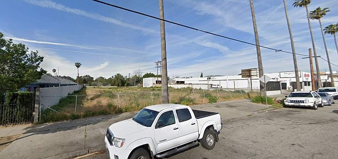 Vacant lot at 12663-12667 N. San Fernando Road in Sylmar.