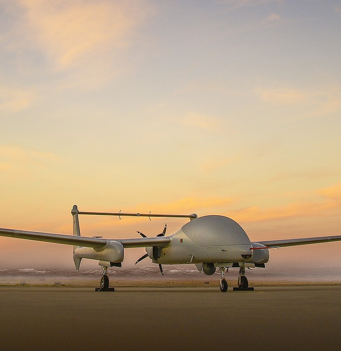 In unmanned mode, Northrop Grumman's Firebird can be controlled via satellite. Photo courtesy of Northrop Grumman Corp.