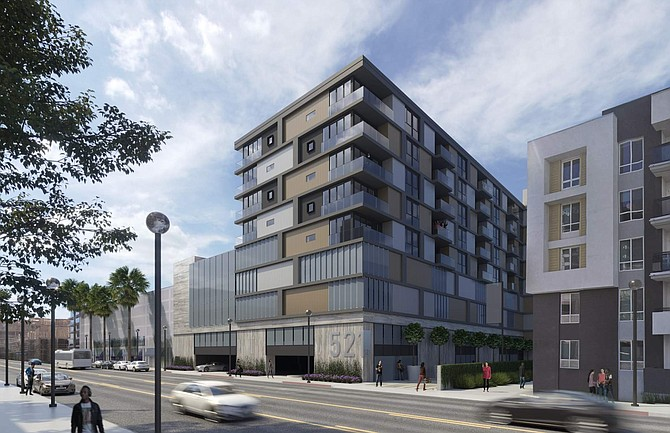 Rendering of 521 N. Orange St. in Glendale after redevelopment.