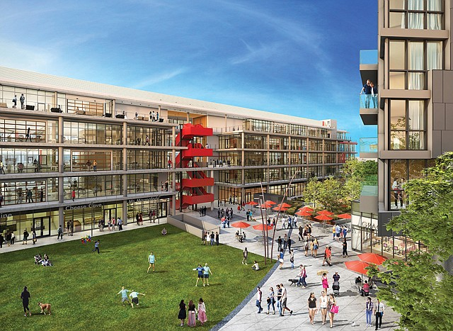 Creating Community: HBO leased a 240,000-square-foot office building at Ivy Station, which will also have apartments and a hotel.