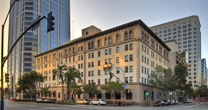 The Guild Hotel in the former Army-Navy YMC in downtown San Diego was among five new hotels to open in San Diego County since January. Photo courtesy of Oran Hotels.