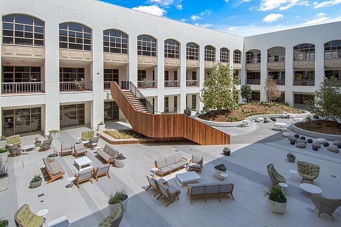 Interior courtyard at 4500 Park Granada in Calabasas.