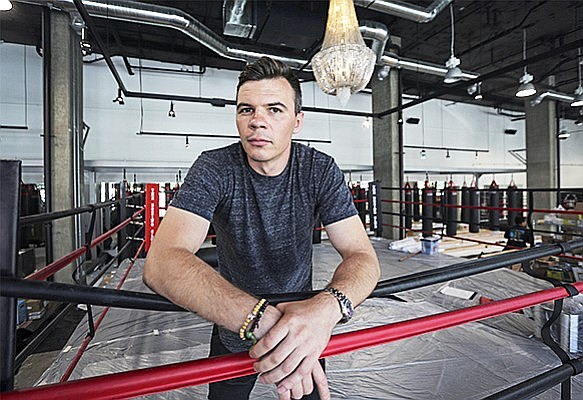 Artem Sharoshkin said opening his Boxing Club fitness center in the bottom floor of the Shift apartment tower in East Village paid off. Photo by Jamie Scott Lytle.
