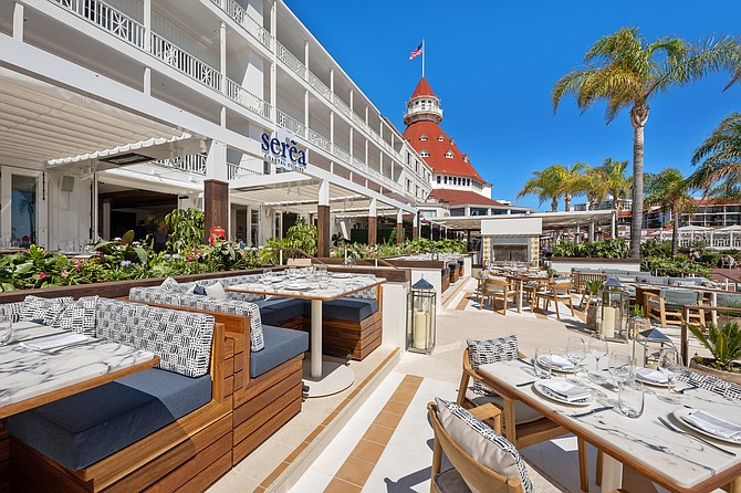 The Blackstone Group which owns The Cosmopolitan Las Vegas — where Clique Hospitality's Clique Bar & Lounge is located — also owns the Hotel del Coronado, where Serea is. Photo courtesy of Clique Hospitality.